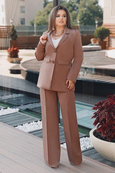 Пиджак классический на подкладке XL № 514 Кофейный