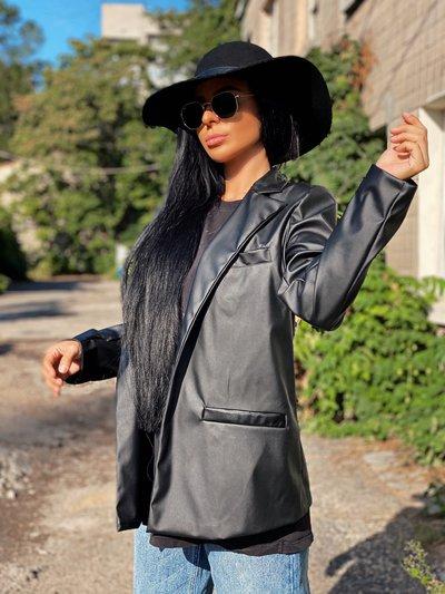 Пиджак из экокожи spring suit черный