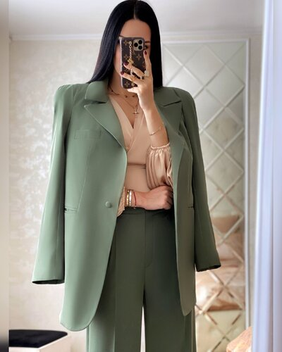 Пиджак в классическом стиле Milan хаки