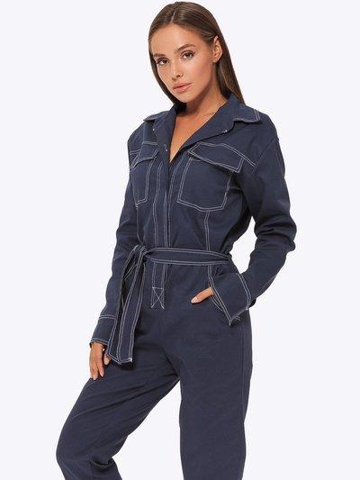Комбинезон джинсовый №405 синий
