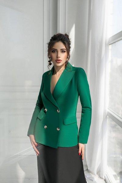 Пиджак приталенный №048 Зелёный