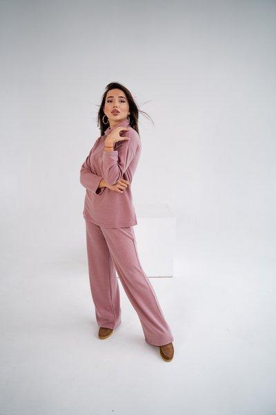 Костюм штаны и туник из ангоры № 668 Пудра