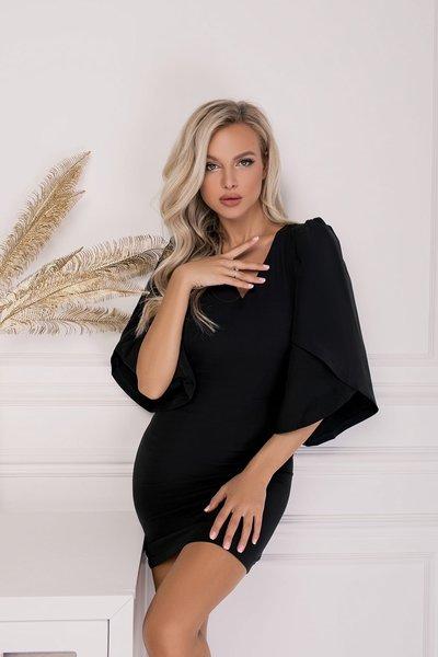 Платье мини с широкими рукавами Моника № 270 Черное