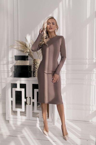Платье облегающее Молли № 264 Кофейное