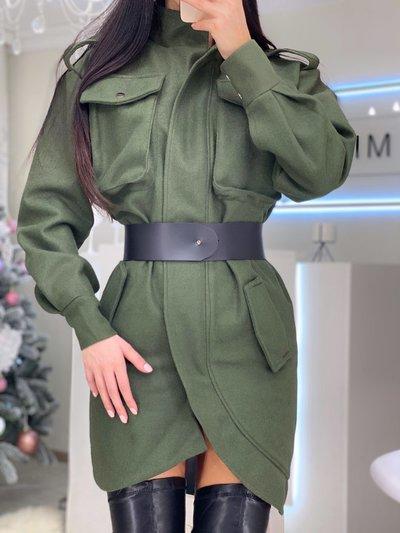 Платье-кардиган кашемировое Лора хаки